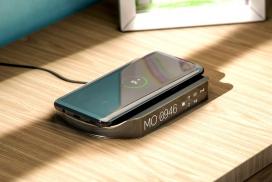 床头闹钟手机无线充电器