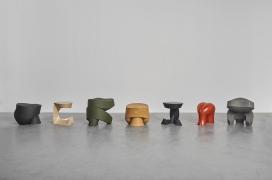 Aldo Bakker的维度凳子作品