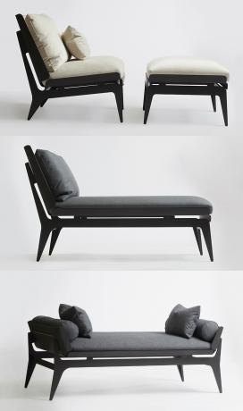 BOUDOIR系列重新诠释了经典椅子轮廓