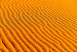 金色波浪型沙漠