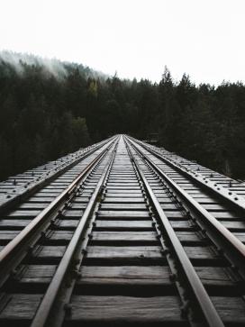 枕木多轨铁路