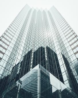 玻璃写字楼建筑