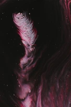 红色涟漪水波纹