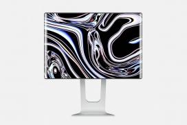 让您大饱眼福的圆润无边框Apple Mac Pro显示屏