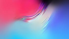 抽象动感流畅水波纹的蓝红背景图