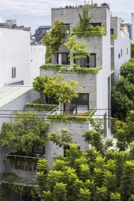越南81平米的绿色植物梯田公寓
