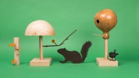 """记录城市野生动物的雕塑""""静物"""""""