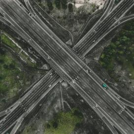 纵横交错的立交桥
