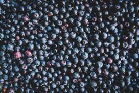 新鲜熟透的蓝莓