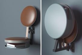 看起来像华夫饼机的壁挂式椅子
