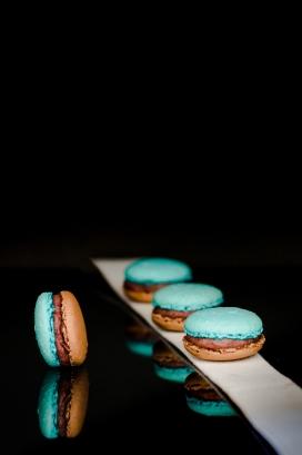 蓝色夹心饼干