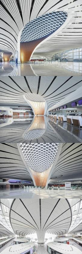 北京大兴国际机场室内建筑设计欣赏