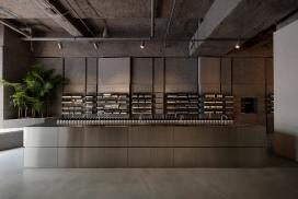 模仿沿海悬崖的悉尼Aesop商店