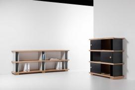 用积木和木板制作的DIY货架