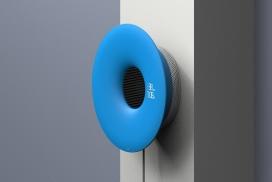 用于紧凑型公寓的壁挂式空气净化器和时钟