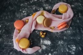 五彩马卡龙饼干