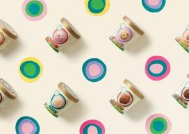 利用剪纸插图和摄影方式包装的新西兰冰淇淋产品设计