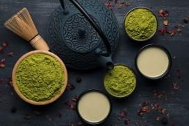黑茶壶约会绿豆粉