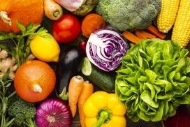 新鲜色彩的蔬菜