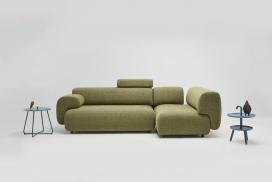 灵感来自空气微小水颗粒的模块化沙发系统