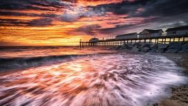 美丽的海滨度假屋风景