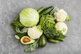 丰富的绿色蔬菜