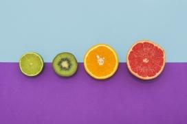 切片的五彩水果
