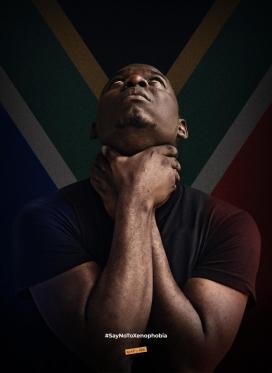 当我们伤害非洲同胞兄弟姐妹时,就间接地伤害了自己-仇外心理公益平面广告