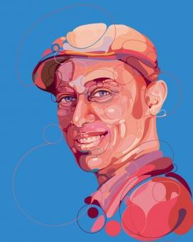 《环球邮报》人物肖像插画