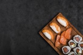 三文鱼寿司美食料理