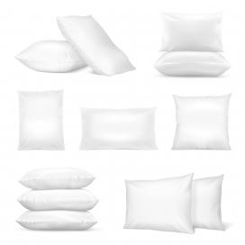 白色枕头素材下载