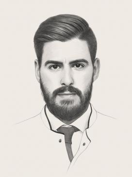 日内瓦工匠肖像插画