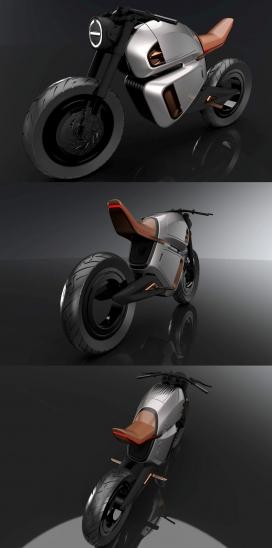 无轮毂后轮的NAWA的电动自行车