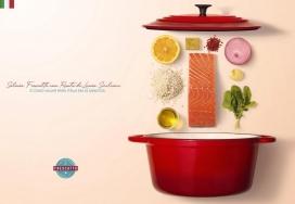 可以找到原始食谱-Frescatto平面广告