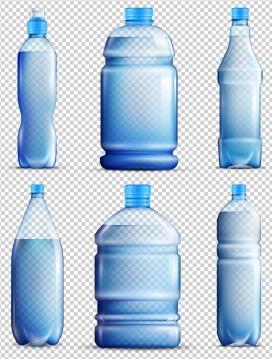 蓝色水桶水瓶素材