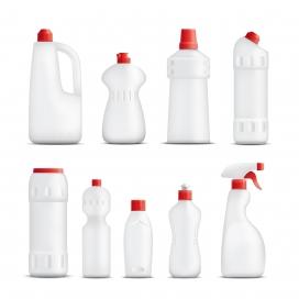 喷撒清洁产品瓶素材