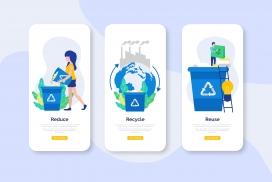 绿色环保处理垃圾的素材图