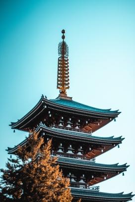 中国风吊角城楼