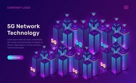 5G网络技术概念矢量素材下载