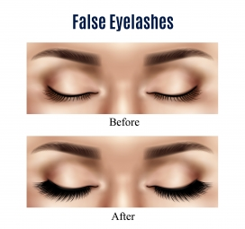 时尚女性眼部纹美对比矢量素材下载