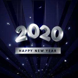 2020银色新年壁纸