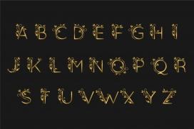 质感金箔字母素材下载