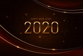 金属质感的2020字体