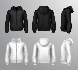 男性保暖外套3D逼真矢量素材下载