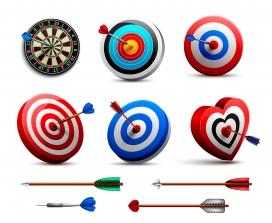多种抽奖式箭靶与箭素材