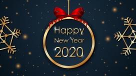 新年快乐-2020贺岁海报素材