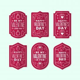 红色类情人节徽章收集