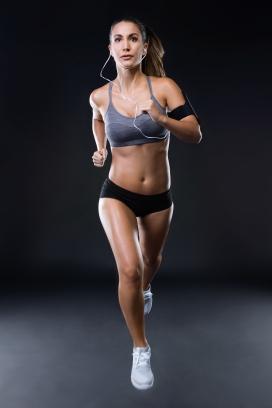 奔跑的马拉松运动员