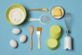 制作蛋糕面包的食材与工具
