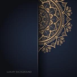 精致的金箔金属花纹